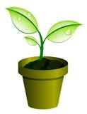 Planta no potenciômetro ilustração stock