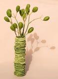 Planta no vaso alaranjado Imagem de Stock Royalty Free