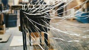 Planta para o reforço composto da fibra de vidro - indústria química vídeos de arquivo