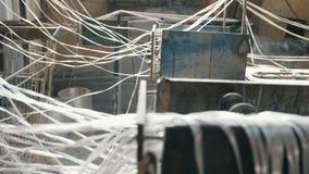 Planta para o reforço composto da fibra de vidro - indústria química video estoque