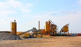 Planta para a produção de concreto Imagens de Stock