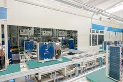 Planta para a produção de condicionadores de ar do agregado familiar imagens de stock royalty free