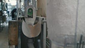 Planta para produzir as hastes de fibra de vidro - fabricação de reforço composto - tiro do slider filme
