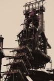 Planta siderúrgica abandonada Fotos de archivo