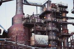 Planta siderúrgica abandonada Imagen de archivo