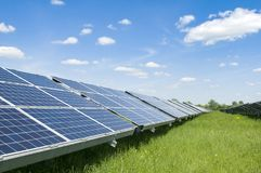 Planta solar Fotos de Stock