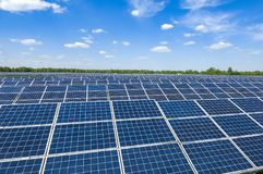 Planta solar Imagens de Stock