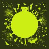 Planta verde cobarde libre illustration