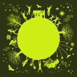 Planta verde Funky ilustração royalty free