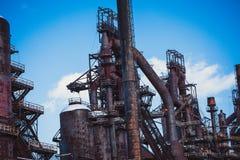 Planta vieja abandonada de Bethlehem Steel de la planta siderúrgica foto de archivo