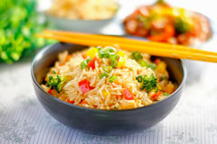 Plantaardig Fried Rice Royalty-vrije Stock Fotografie