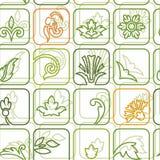 Plantaardig groen decor als achtergrond Royalty-vrije Stock Afbeeldingen