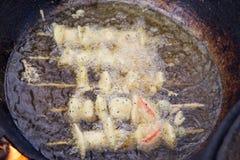Plantaardig kebabsgebraden gerecht in olie Royalty-vrije Stock Foto's