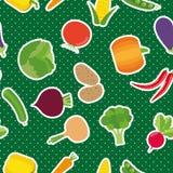 Plantaardig naadloos patroon Het beeld van groenten Stock Afbeeldingen