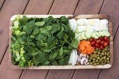 Plantaardig Saladedienblad Stock Foto