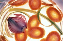 Plantaardig - soep Royalty-vrije Stock Afbeeldingen