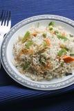 Plantaardige Biryani - een populaire Indische die vegschotel met groenten wordt gemaakt Stock Afbeeldingen