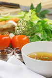 Plantaardige bouillon stock afbeeldingen