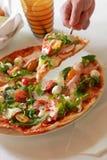 Plantaardige Gehele Pizza Stock Afbeeldingen