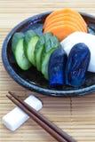 Plantaardige groenten in het zuur Stock Foto's