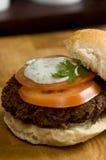 Plantaardige hamburger Stock Foto