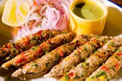 Plantaardige kebab Stock Afbeelding