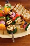 Plantaardige kebabs Stock Foto's