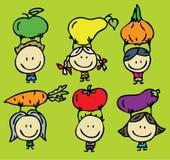 Plantaardige kinderen stock illustratie