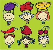 Plantaardige kinderen vector illustratie