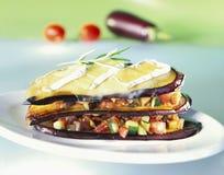 Plantaardige lasagna Stock Foto