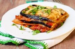 Plantaardige lasagna's Stock Afbeeldingen