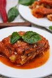 Plantaardige lasagna's royalty-vrije stock foto