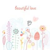 Plantaardige liefdeprentbriefkaar Royalty-vrije Stock Foto