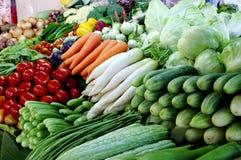 Plantaardige markt Stock Foto