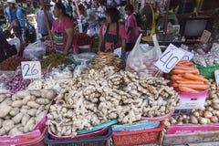 Plantaardige markt in Bangkok Stock Fotografie