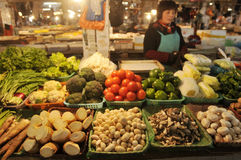 Plantaardige markt in China Stock Foto