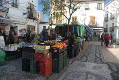 Plantaardige markt in Granada, Andalusia Royalty-vrije Stock Foto's