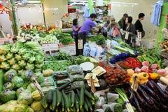 Plantaardige markt in Hong Kong stock fotografie