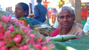 Plantaardige markt, India Stock Foto