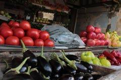 Plantaardige marktkraam Stock Foto's