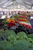 Plantaardige markttribune Stock Foto's