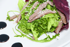 Plantaardige mengeling met kalfsvlees Stock Foto's