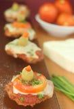 Plantaardige minipizza Stock Foto