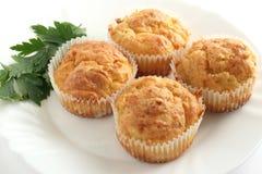 Plantaardige muffins Stock Afbeeldingen