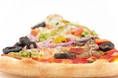 Plantaardige Olive Pizza Slice royalty-vrije stock foto's