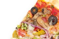 Plantaardige Olive Pizza Slice stock foto's