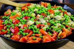Plantaardige paella Royalty-vrije Stock Fotografie