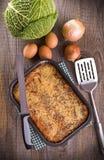 Plantaardige pastei. Stock Fotografie