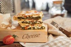 Plantaardige pastei met spinazie Royalty-vrije Stock Afbeelding