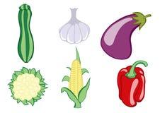 Plantaardige pictogrammen Stock Afbeelding